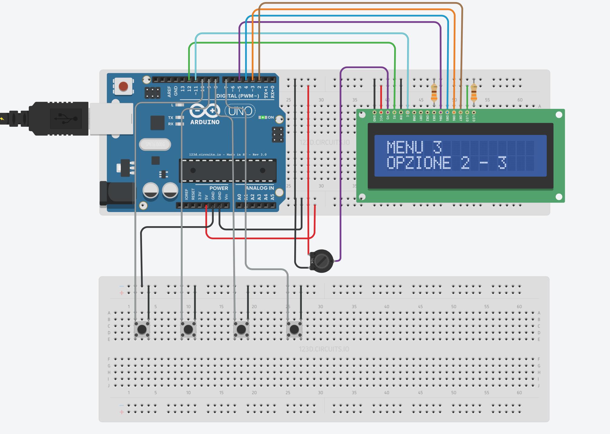 Creare un Menù con Arduino