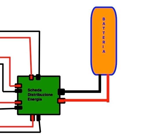 collegamento della batteria