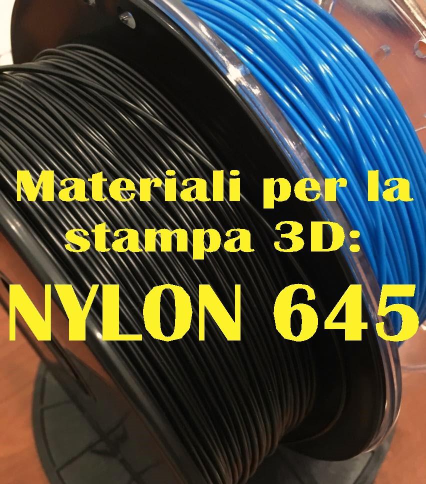 Materiali per la stampa 3D: Nylon Taulman 645