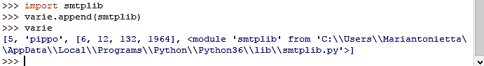 aggiungere un elemento in una lista - Python