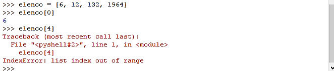 errore indice lista - python