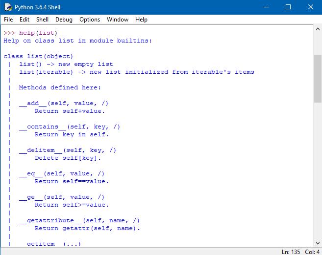 Python – Tipi di dati: funzioni help, dir e type