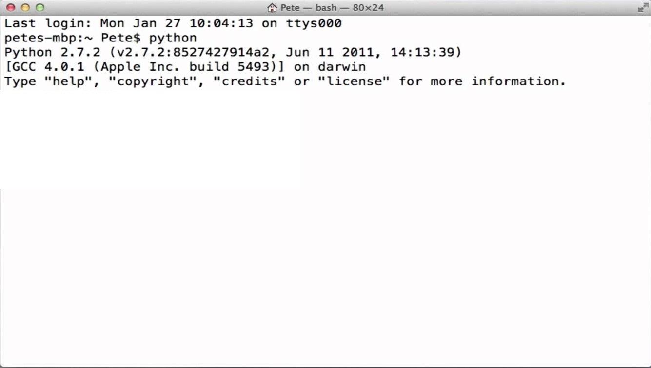 Mac OS X python