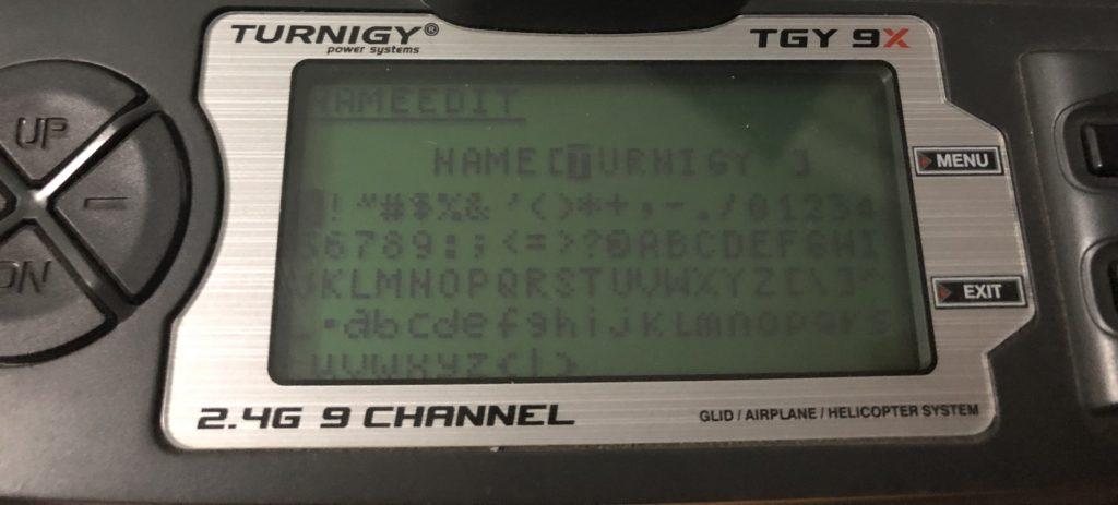 Nome modifica Turnigy 9x