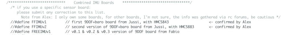 Paragrafo Combined IMU Boards