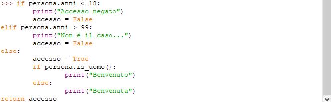 Sintassi di Python: indentazione