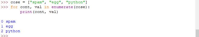 """Funzione """"enumerate"""" - Istruzione """"for"""" Python"""