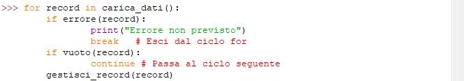 """Sintassi di Python: Istruzioni """"break"""" e """"continue"""""""