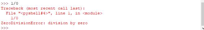 Eccezioni in Python - Divisione per zero