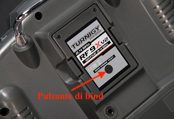 pulsante bind turnigy 9x