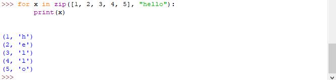 Funzione zip - Python