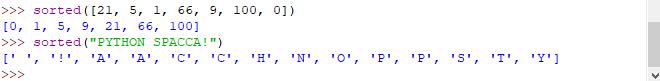 Funzione sorted - Python