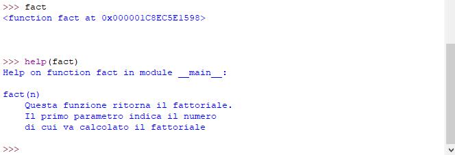 Stringa di documentazione nella variabile __doc__