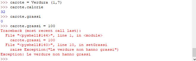 Utilizzo classe modificata - Python