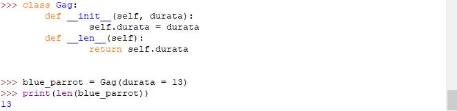 Metodi speciali in Python: metodo __len__ con le classi