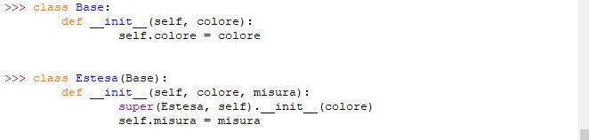 Funzione super per le classi in Python